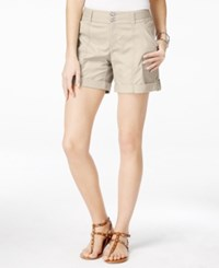 Inc International Concepts Cuffed Curvy Fit Twill Shorts Only At Macy's Toad Beige