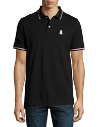 Psycho Bunny Kingston Tipped Pima Polo Shirt Black