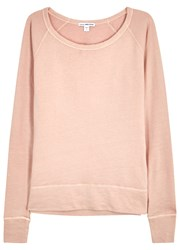 James Perse Pink Supima Cotton Sweatshirt