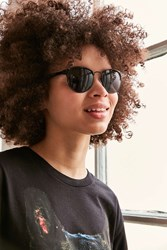 Urban Outfitters Camille Painted Half Frame Sunglasses Black
