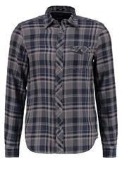 Wrangler Flap Slim Fit Shirt Castle Rock Grey