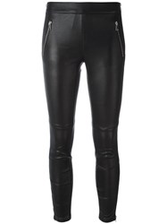 Alexander Mcqueen Cropped Leggings Black