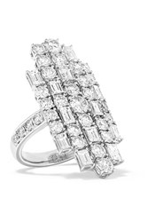 Anita Ko Cluster 18 Karat White Gold Diamond Ring 6