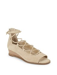 Vince Camuto Rochela Lace Up Wedge Sandals Beige