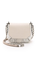 Rag And Bone Python Printed Bradbury Mini Chain Hobo Bag White Python