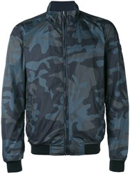 Woolrich Camouflage Reversible Bomber Jacket Men Polyamide Polyester Xl Grey