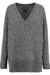 Mcq By Alexander Mcqueen Oversized Wool And Cashmere Blend Sweater Gray