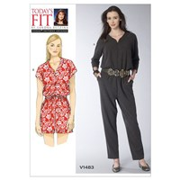 Vogue Women's Jumpsuit And Playsuit Sewing Pattern 1483