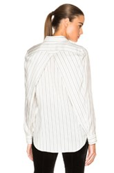 Maison Martin Margiela Maison Margiela Big Pinstripe Habotai Blouse In Stripes White