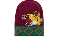 Gucci Men's Roaring Tiger Beanie Purple