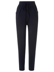 Whistles Cashmere Joggers Navy