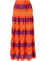 Cecilia Prado Maxi Skirt Yellow Orange
