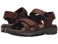 Clarks Raffe Sun Brown Leather Men's Sandals