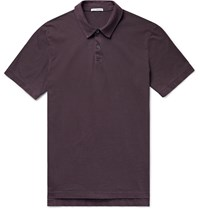 James Perse Slim Fit Supima Cotton Jersey Polo Shirt Burgundy