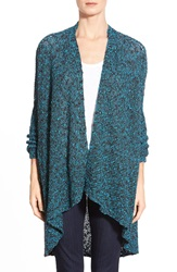 Bobeau High Low Swing Cardigan Charcoal Teal