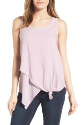 Wit And Wisdom Women's Knotted Asymmetrical Tank Smokey Lavender