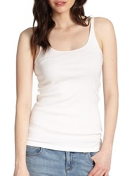Eileen Fisher Organic Cotton Tank Top White Black