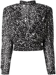 Nineminutes Long Sleeve Embroidered Blouse Black