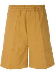 Golden Goose Deluxe Brand Pleated Detail Bermuda Shorts Brown