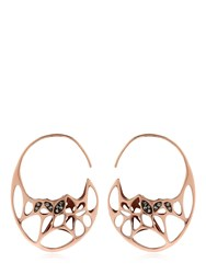 Flowen Goda Rose Gold Plated And Diamond Earrings