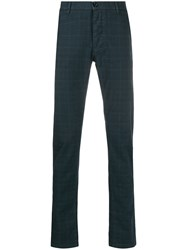 Trussardi Jeans Checked Slim Fit Chinos 60