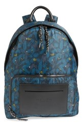 Ted Baker London Primate Print Backpack Blue Navy