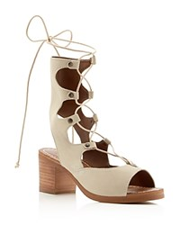 Matisse Expo Lace Up Mid Heel Sandals Natural