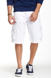 Antique Rivet Harper Cargo Short White