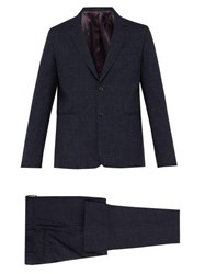 Paul Smith Soho Tailored Fit Check Wool Blend Suit Blue Multi