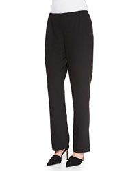 Caroline Rose Travel Gabardine Straight Leg Pants Women's