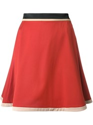 Loveless Mid Rise A Line Skirt Yellow And Orange