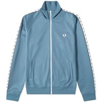 Fred Perry Authentic Taped Track Jacket Blue