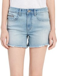 Calvin Klein Jeans Frayed Cuff Denim Shorts Blue