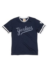 Men's Red Jacket 'New York Yankees' Trim Fit Ringer T Shirt