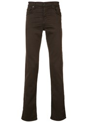 J Brand Slim Fit Jeans Brown