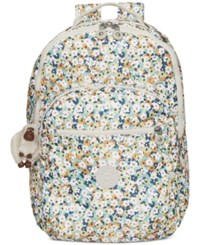 Kipling Seoul Backpack Green Meadow Floral