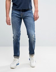 Edwin Ed 80 Slim Tapered Jean Unwashed Rainbow Selvedge Unwashed Blue