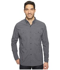Kuhl Thrive Long Sleeve Shirt Carbon Men's Long Sleeve Button Up Gray
