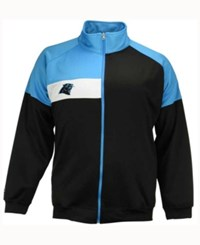 Majestic Men's Carolina Panthers Court Track Jacket Black Teal White