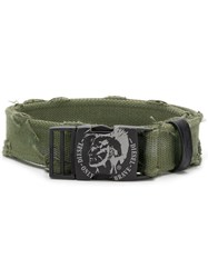 Diesel Distressed Belt Green