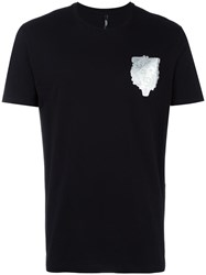 Versus Metallic Lion Print T Shirt Black