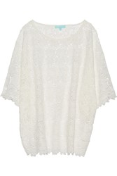 Melissa Odabash Stephanie Cotton Lace Kaftan White