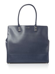 Lulu Guinness Daphne Large Leather Tote Bag Navy