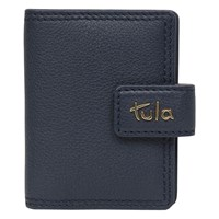 Tula Originals Small Leather Credit Card Holder Navy