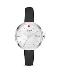 Kate Spade New York Leather Park Row Watch 34Mm White Black