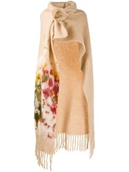 Forte Forte Wrap Style Fringed Cape Neutrals