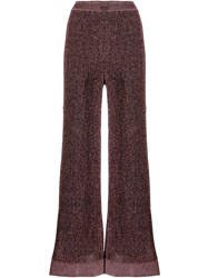 M Missoni Knitted Palazzo Trousers Pink