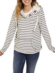 Fat Face Whitstable Hoodie Ivory