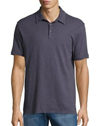 Velvet By Graham And Spencer Short Sleeve Slub Polo Raven Grey