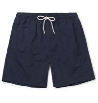 Saturdays Surf Nyc Timothy Slim Fit Mid Length Swim Shorts Navy